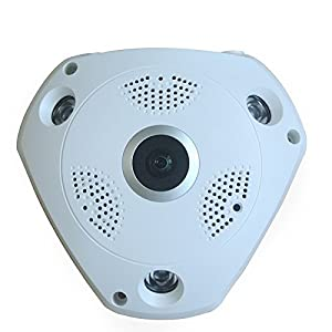 BOND Wifi IP Cam 960P/2MP 3D VR 360 degrees Fisheye Panoramic Audio Web Camera IR Night Vision Motion Detection For CCTV Home Security IP Camera from BOND STREET