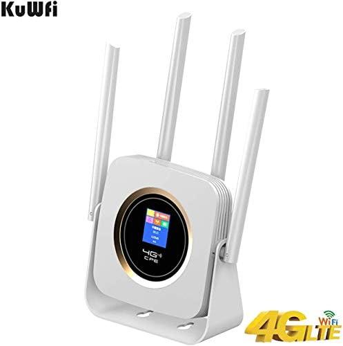 KuWFi Router 4G Móvil WiFi, 300Mbps 4G LTE Router ...