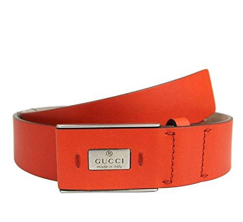 Gucci Men's Leather Hidden Buckle Trademark Belt 353345 (110 / 44, - Gucci Orange