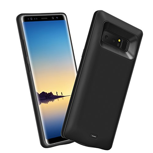 Note 8 Battery Case, Basesailor Galaxy Note 8 5500mAh External Backup Charging Pack, Rechargeable Impact-Resistant Power Bank Case for Samsung Galaxy Note 8 (Black)