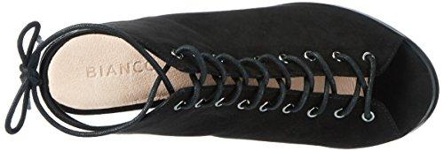 Bianco Laced Up Sandal Jfm17 - Sandalias Mujer negro