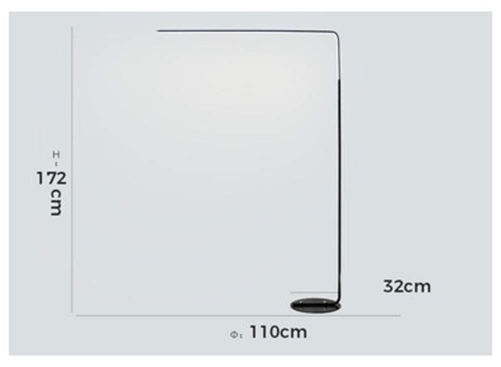 HATHOR-23 フロアランプリビングルームクリエイティブソファコーヒーテーブル釣りランプシンプルで現代的な寝室の研究は垂直テーブルランプを導きました -741フロアスタンドランプ (色 : ブラック) B07QBCDB2Z ブラック
