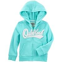 OshKosh B'Gosh Girls' 2T-8 Long Sleeve Logo Hoodie