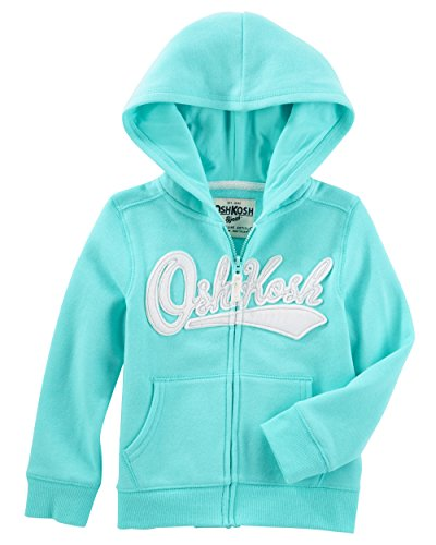 - OshKosh B'Gosh Girls' Kids Full Zip Logo Hoodie, Teal, 6