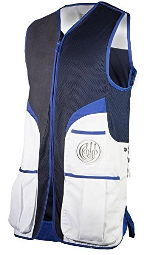Beretta BEGT112T11300100M Men's Competition Shooting Vest, White, Medium by Beretta (Image #2)