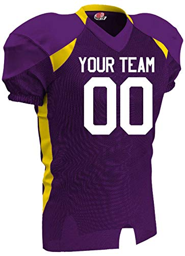 blue and gold football jersey - 3