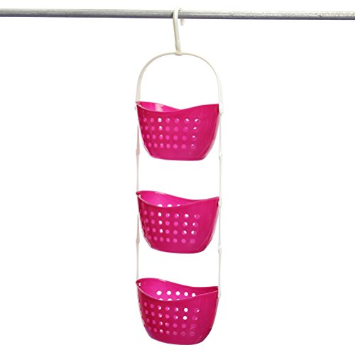 red 3 tier hanging basket - 7