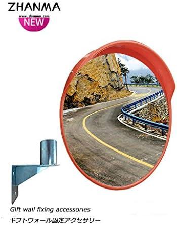 カーブミラー 凸面鏡監視ミラーのドライブウェイガレージ耐候性屋外交通ミラー60センチメートル80センチメートル、取付金具を送ります RGJ12-6 (Size : 60cm)