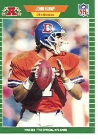 1989 Pro Set John Elway Football Card #100 - Shipped In Protective Display Case!