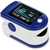 Premium Finger Heart Rate Monitor, OLED Display, Carry Case, Batteries and Lanyard Included