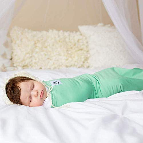 The Ollie Swaddle (Meadow)-Helps to Reduce The Moro (Startle) Reflex - Made from Custom Moisture-Wicking Material-No Overheating-Size Adjustable for All Months of Babies