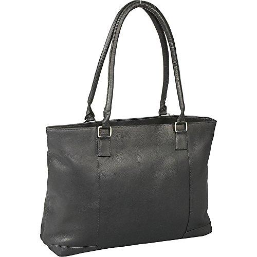 Le Donne Leather Women's Laptop/Handbag Brief (Black) by LeDonne