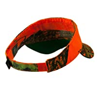 Garment Washed Camo Visor - Mossy Oak Blaze Orange-One Size
