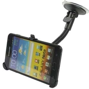 Mobilizers - Soporte de Ventosa Hecho a Medida para Parabrisas con Rotación de 360 Grados para Samsung Galaxy Note I9220 / N7000