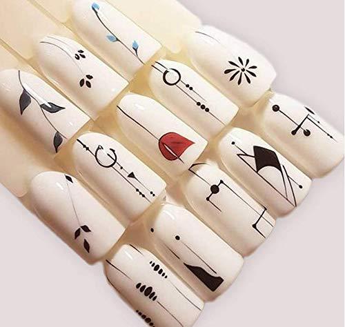 Kanggest.40 Hojas Arte de uñas Pegatinas Conjunto Etiquetas engomadas del Arte del Clavo de la Unicornio Diseño 3D Manicura Consejos Calcomanías Envolturas ...