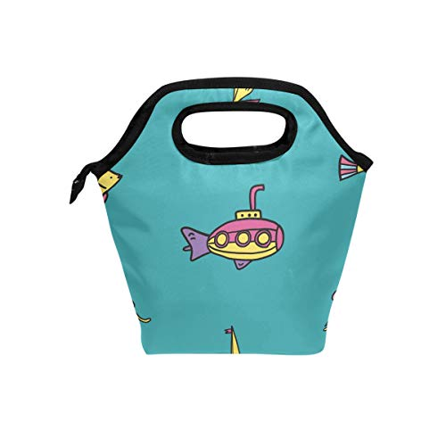 - Senya Lunch Bag Insulated Lunchbox Handbag Tote Bags Reusable Cooler Containers Organizer School Outdoor For Women Men Girls Boys Kids Submarine Sea Life Pattern