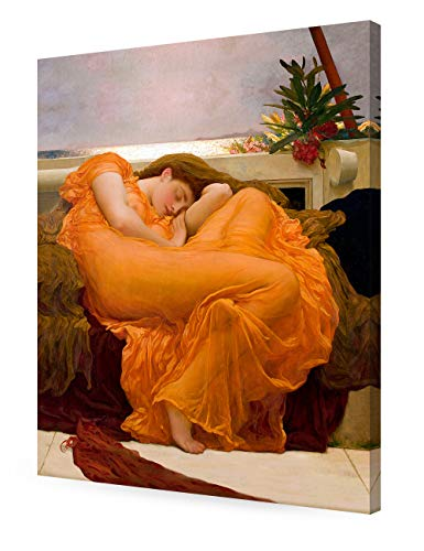 DECORARTS - Flaming June, Frederic Leighton Classic Art Reproduction. Giclee Canvas Prints Wall Art for Home Decor 30x24 x1.5 ()
