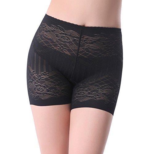 Impresos ángulo Plano Levante Las Caderas La Mujer Cómodo Suave Atractivo Transpirable Salud Simple Bragas Black