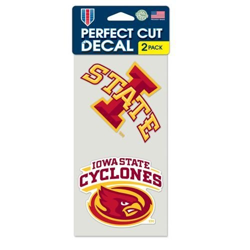 State Cyclones Iowa Nfl (Iowa State Cyclones Set of 2 Die Cut Decals)