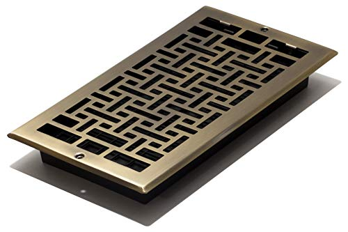 Decor Grates AJL612W-A Oriental Wall Register, 6-Inch by 12-Inch, Antique Brass