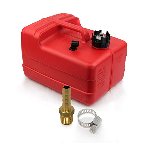 Five Oceans 3 Gallon Fuel Tank/Portable Kit w/Universal Brass Fuel Hose Barb (1/4