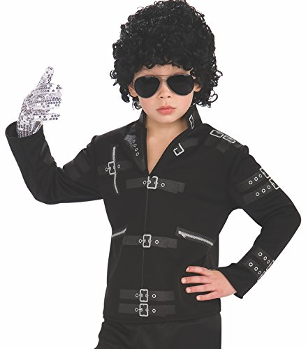 Michael Jackson Costume Makeup (Michael Jackson Child's Value Bad Buckle Jacket Costume Accessory, Small)