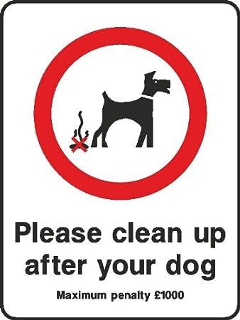 200 mm reinigen, die Nach Ihren Hund (2 mm Kunststoff Schild ...