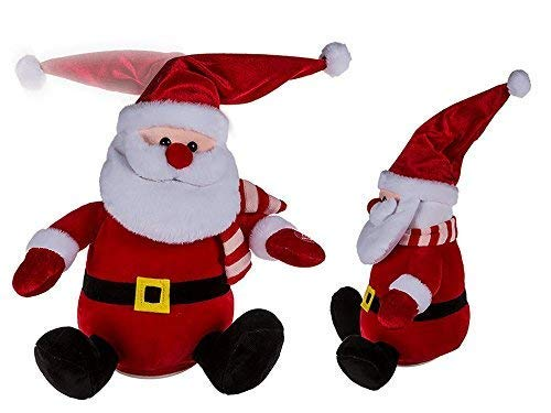 (Toyland Plush Santa with Dancing Hat (Batteries Included) (Red, 21 X 16.5 X 37.5 cm))
