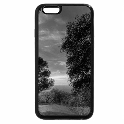 iPhone 6S Plus Case, iPhone 6 Plus Case (Black & White) - road bending towards a sunset