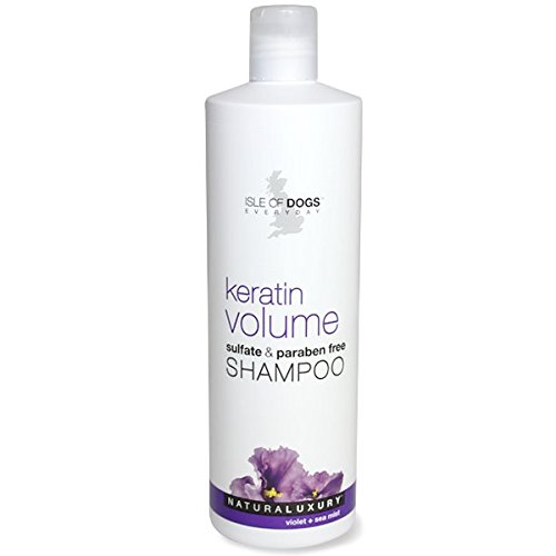 Isle of Dogs Keratin Volume Sulfate Free Shampoo, 16 Fluid - Coat Shampoo Harsh