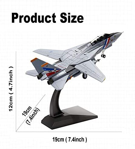 Modelvliegtuig, schaal 1/100 US F-14D Tomcat Fighter Attack Plane Metal Fighter Military Model Diecast Plane Model, voor Commemorate Collection of Kids Birthday gift