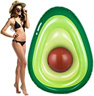 Obuby Inflatable Avocado Pool Float Floatie with Ball Fun Pool Floats Floaties Summer Swimming Pool Raft Loung
