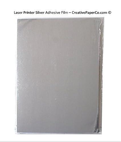 Impresora Laser de la plata una película de adhesivo 4 x 5 ...