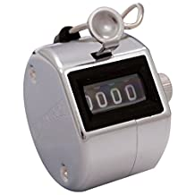 MARATHON CO200001CH Handheld Chrome Tally Counter with Finger Ring