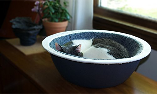 Hepper - Nest Cat Bed - Modern Cat Furniture - Cat Bowl with Removable & Washable Fleece Liner - Grey