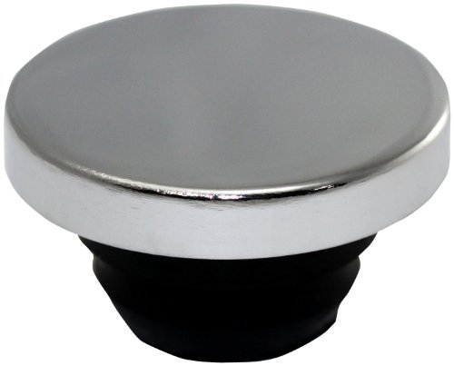 Mota Performance A80187 Chrome Push-In Valve Cover Oil Filler Breather Cap Smooth ()