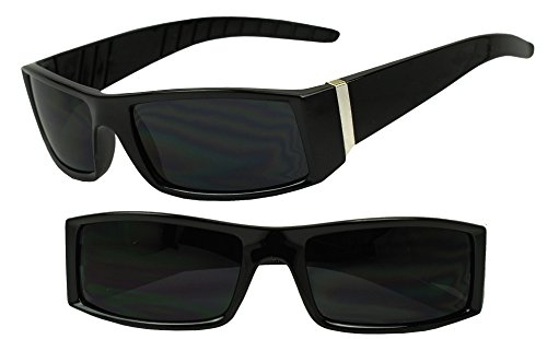 Sunglass Stop- Classic Old School Mad Dogger Flat Top Dark - School Old Sunglasses