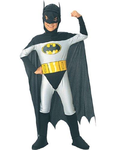 [Batman Classic Halloween Costume Children-USA Size 4-6 (Ages 3-4)] (Kids Batman And Robin Costumes)