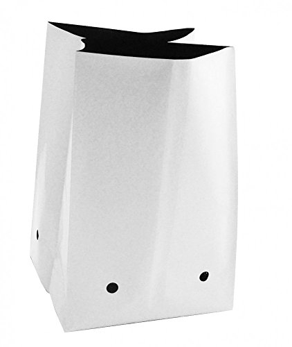 Plastic Black & White Grow Bag 3 Gallon - White Grow Plastic