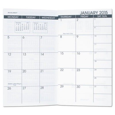 AT-A-GLANCE Dated Monthly Planner Recycled Refills (AAG7090610) (Recycled Monthly Refill)