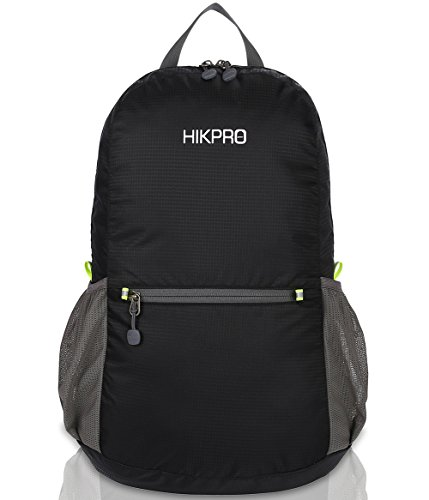 HIKPRO 20L - The Most Durable Lightweight Packable Backpack, Water Resistant Travel Hiking Daypack For Men & Women -