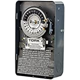 Tork 1101 Time Switch, Indoor Steel Case, 24 hours Dial