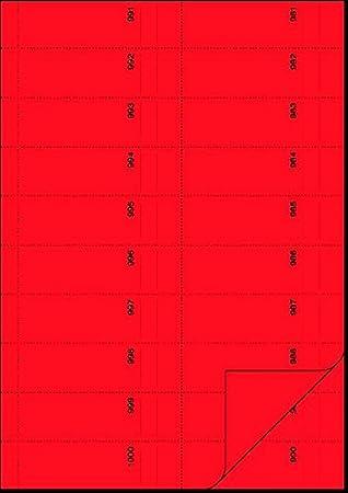 Herlitz 892703 Number Pads 1-1000 1,000 fogli 105 x 50 mm colori assortiti