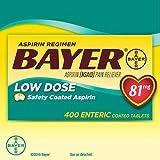 Bayer Aspirin Regimen Low Dose 81mg, Enteric Coated Tablets, 400-Count Total