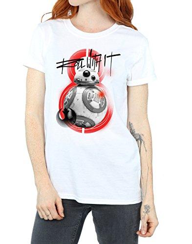 Del Jedi With Blanco Last The Wars Roll Fit Novio Star Bb Camiseta Mujer It 8 8q1nInwPU
