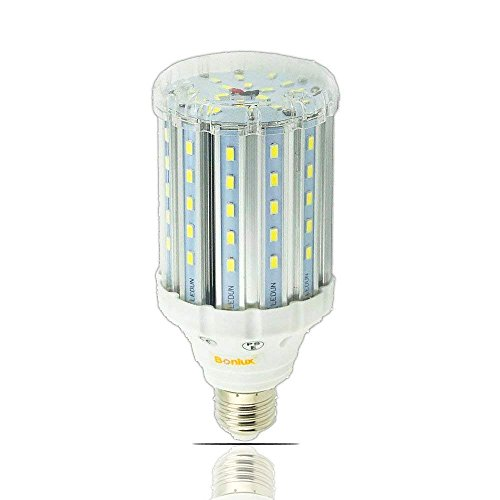 Bonlux Medium Screw Socket E26 LED Light Bulb 85-265v Ac 25w Daylight 6000k LED Corn Light for Garden Street Path Area Lighting Garage Factory Warehouse Highbay LED Retrofit Bulb