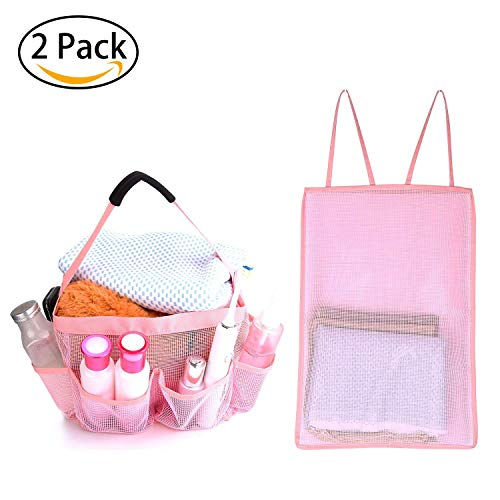 9 Nice Mesh Shower Caddy For Bathroom Storage - Portable Shower Caddy Tote Quickly Dry Hanging Shower Bag, Toiletry Bag with 8 Storage Pockets For Attmu, Mayin, Haundry, ShowerMade, ()