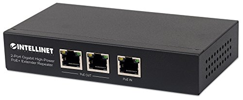 Intellinet Network Solutions(R) 561266 2-Port Gigabit High-Power PoE+ Extender Repeater from Intellinet Network Solutions