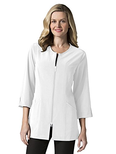 "(Maevn Smart Lab Coats - Ladies 3/4"" Sleeve Lab Jacket (X-Large, White))"
