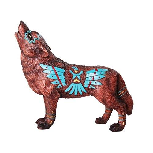 Ky & Co YesKela Eagle Vision Native Tribal Howling Wolf Totem Spirit Figurine Ebros 6.25
